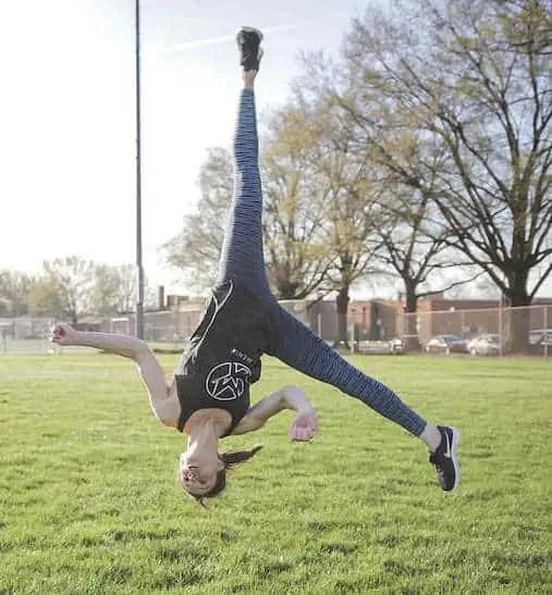 Dr. Keaton Ray of MovementX doing an Ariel Flip