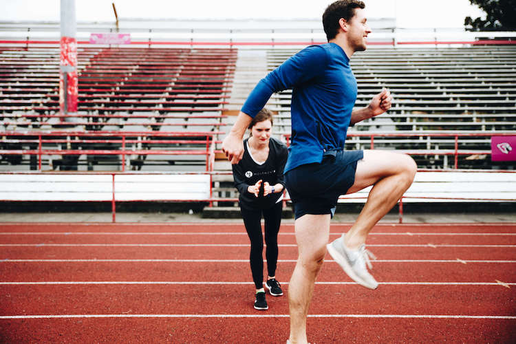 Man and Movement X Physical Therapist on track