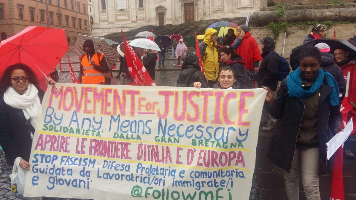 MFJ Statement for USB (rank & file union) mobilisation,  Rome 16/06/18