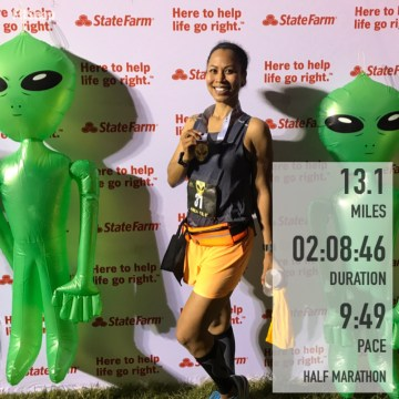 Race day, half marathon