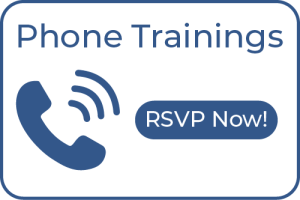 Phone Trainings. RSVP now!