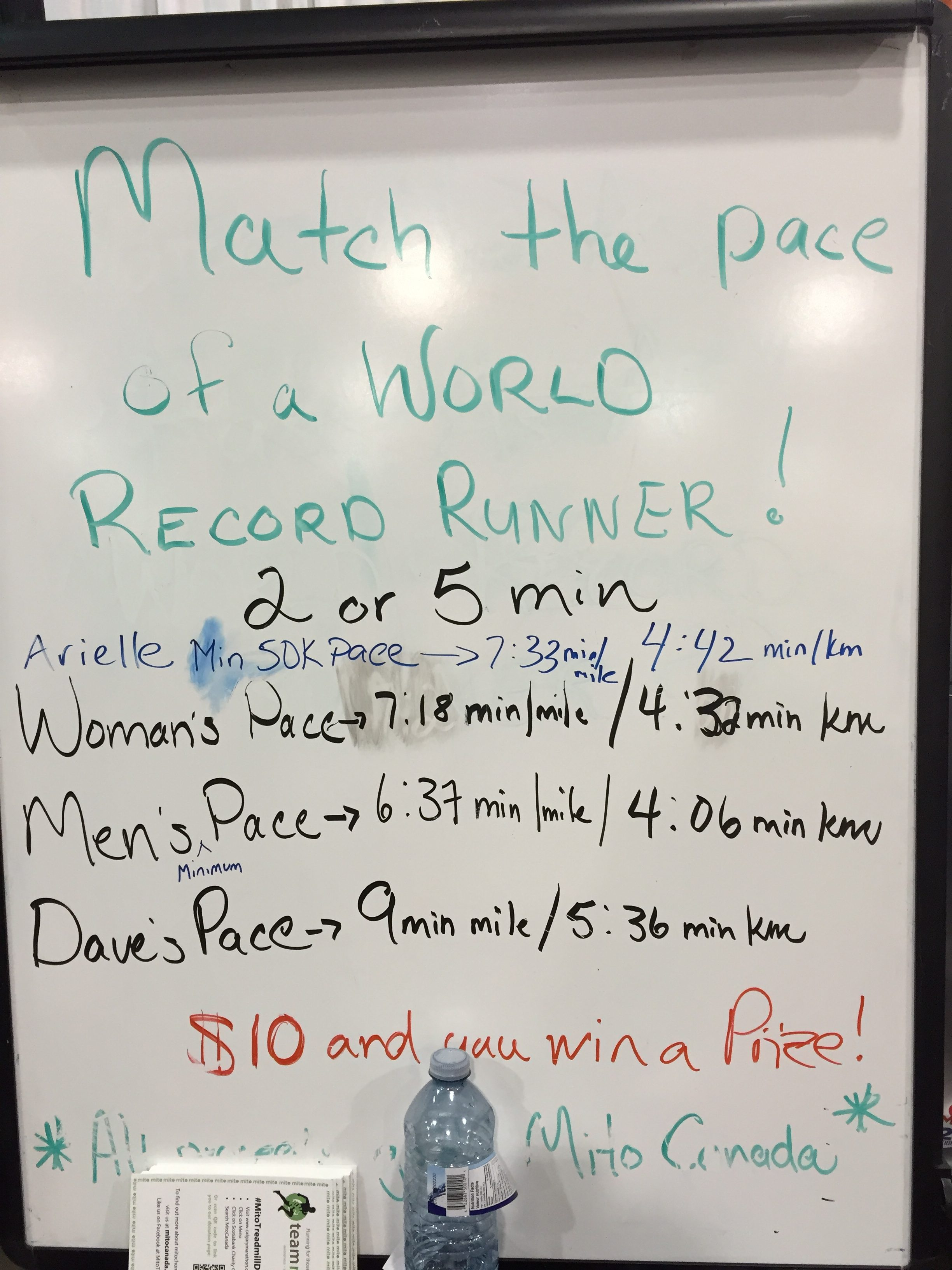 Match the pace challenge!