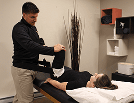 Sport Physiotherapist providing exercise prescription at Orleans Physiotherapy clinic