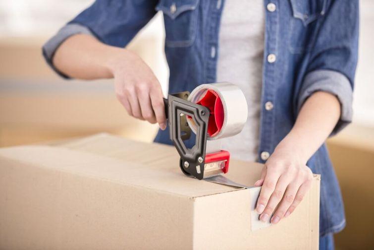 Verpackungsmaterial für den Umzug