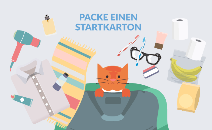 Startkarton packen