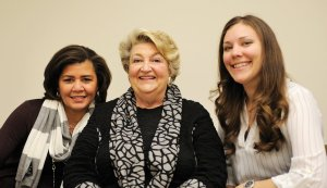 Co-chairs Gina Goings and Martha Millett with Springer staff member Kirstin Eismin