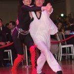 Dancers Bonita Brockert and Conrad Thiede, third place winners