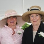 CAPTION: Debbie Oliver and Helen Heekin, the founding co-chairs of The Women's Committee, at the inaugural Hats Off Luncheon