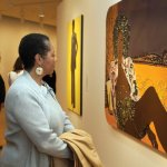 Visitors saw 60 works by contemporary African-Americans artists including Mickalene Thomas.