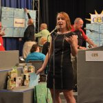 Cincinnati Public Radio's Tana Weingartner, volunteer auctioneer