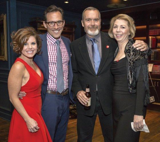 Jodi and Jay Woffington with Kelley and David Downing