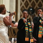 Capathia Jenkins with soloists from the Classical Roots Community Mass Choir