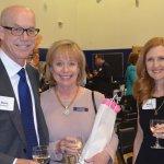 Silver sponsors Steve and Pat Robertson with volunteer Kathy Liguzinski