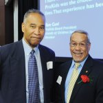 Lawrence Hawkins with CASA volunteer Donald Swain