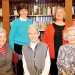 Woman's City Club of Greater Cincinnati: (standing) Marge Davis and Linda Wihl; (seated) Harriet Kaufman, Mary Ann Berry and Sarah Gideonse