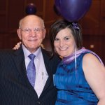 Event emcee Larry Findlay with Krista Powers, chapter development director