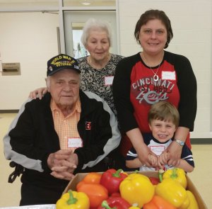 The Stephens family:  grandparents Doris and George, mom Jennifer and preschooler Braydon