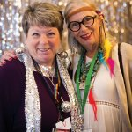 Kathy Davis and auction chair Cate Dean