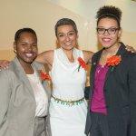 Angel Raquel Bush, Charlotte R. Schmidlapp Scholar; Zainab Salbi; and Sydney Mantell, Mamie Earl Sells Scholar