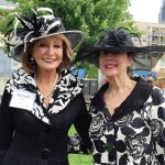 Barbara Hahn and Ronna Willis, two fair ladies worthy of the Royal Ascot