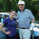 Hyundai's Erika Seifred with Stepping Stones board member John Hassan