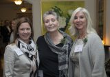 Sian Cotton, executive director of UC Health Center for Integrative Health and Wellness, with event co-hosts Barbara Gould and Anne Ilyinsky
