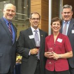 Representing ReSource 2016 honorees: Jock Pitts of PWC and Mark Luegering of Messer Construction, with ReSource executive director Christie Brown and former board member Ron Christian