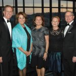 """Mike Keating, president and CEO, The Christ Hospital Health Network; Jane Keating; Vickie Buyniski Gluckman; Millie Huffman; and Gary """"Doc"""" Huffman, president and CEO of Ohio National Financial Services, presenting sponsor"""