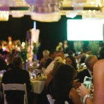 Matthew 25: Ministries' 40,000-square-foot processing center was turned into an elegant, color-infused ballroom.