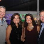 Huntington Bank vice president Chris Shimala and wife Meghan with Francie and Pat Gunning
