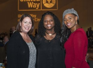 Kate Tinch, Debbie Williams and Tashiba Shorter of Northern Kentucky Scholar House