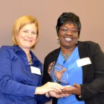 Tender Mercies' Jackie Baumgartner with Evelyn Johnson, representing honoree Kroger and Simple Truth
