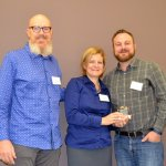 Honoree Rhinegeist's Dennis Kramer, with Jackie Baumgartner and Matt Steinke