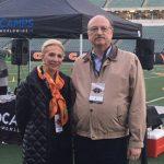 Joyce Elkus and Bill Wilson, president of KZF Design