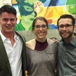 Moishe House founders Sean Sherry, Becca Pollak and Ben Pagliaro