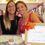 Lizzie Birkhead (right), director of Six Points Collective, and her sister Becca at the group's first event, a sukkah celebration at Kennedy Heights Art Center.