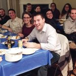 First shabbat dinner at the new location of Moishe House