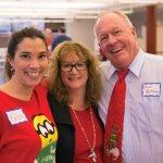 Kristy Suszek; Rotary Club of Cincinnati executive director Linda Muth and Vince Hartmann