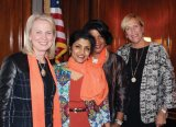 Teresa Tanner, Fifth Third Bank; Dr. Lakshmi Sammarco, Hamilton County coroner; Dr. Monica Newby, Newby Orthodontics; and Barbara Perez, YWCA.