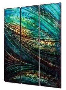 "Nicholas Yust, ""Feathering,"" ground and painted aerospace aluminum, 30'' x 36"""
