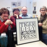 Tiger Lily Press executive committee: Louann Elliott, treasurer; Susan Naylor, president; Jay Harriman; vice president; and April Foster, secretary