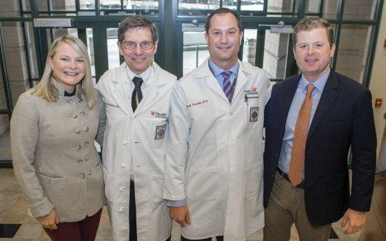 Molly Vollmer, Dr. Joseph Broderick, Dr. Brett Kissela and Will Vollmer