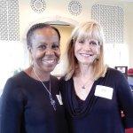 Volunteers Phyllis McCullom and Joan Heckard