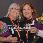 Kathy Smith, chair of the volunteer committee, with co-chair Karen Deller