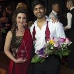 Dance champion Rohan Hemani with dance pro Doreen Beatrice