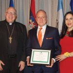 Bishop Joseph R. Binzer, honoree Jose Nine and Su Casa director Giovanna Alvarez at last year's dinner