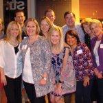 At the kickoff party: (front) Deanna Orr, Nancy Miller, Kim Beach, Nikki Utt and Jenny Ferguson; (back) Abby Messner, Doug Orr, Devyn Griesser, Andrew Griesser, Jim Mooney and Heather Mooney