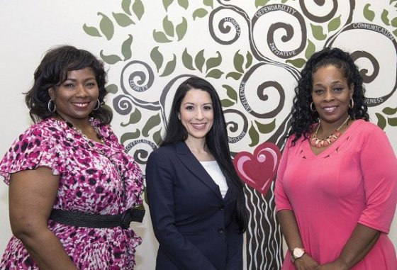 Maria Espinola, PsyD (center) assistant professor in the Department of Psychiatry will partner with Angelik Smith, and Viann Barnett of the Off the Streets program of Cincinnati Union Bethel