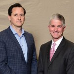 Dr. Hugh Herr and Dr. Mark Delworth, TriHealth System chief of surgery and director of the Robotics Program at Bethesda North Hospital