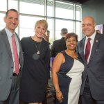 Natalie and Michael San Marco with Sheryl and Cincinnati city manager Harry Black